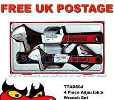 TENG TOOLS 4 Piece Adjustable Wrench Spanner Tray Set TTADJ04