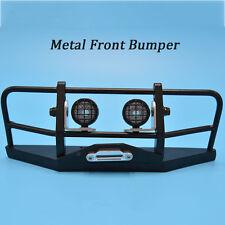 RC Truck Front Bull Bar Metal Bumper W/Light Pods / 1/10 D90 D110 Defender #1570