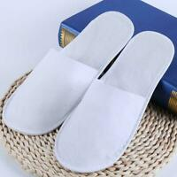 10pcs Disposable Closed Toe Guest Slippers Terry SPA Shoes I3Z7 Hotel Sli P9R3