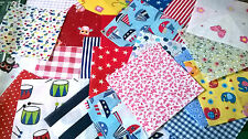 """200 X 4"""" inch squares assorted colours cotton fabric patchwork quilting"""