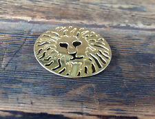 "2"" Diameter Lion Head Brooch"