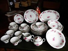41 PC. FAVOLINA PORCELAIN FINE CHINA MADE IN POLAND  PINK FLOWERS