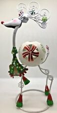 Pier 1 Christmas Bobblehead Reindeer Tealight Candle Holder
