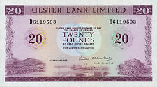 Northern Ireland Ulster Bank P-328 20 pounds 1988 XF