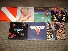 7-VAN HALEN/ROTH -LP LOT-HALEN-I-II-FAIR WARNING-1984-DIVER DOWN-EAT EM- ROCK LP