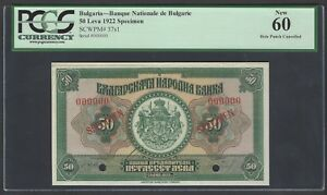 Bulgaria 50 Leva 1922 P37s1 Specimen Uncirculated
