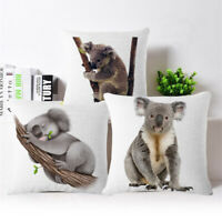 "18"" Fashion Koala Cotton Linen Sofa Pillow Case Throw Cushion Cover Home Decor"