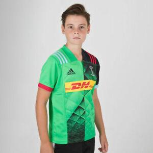 Junior Adidas Harlequins 2019/20 Alternate Rugby Training Shirt      CG1929