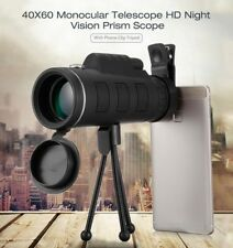 40X60 HD Mini Monocular HD Night Vision Telescope Prism Scope Phone Camera Lens