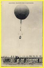 cpa AVIATION MILITAIRE FRANÇAISE Ballon Captif et son PARC AEROSTIER TREUIL