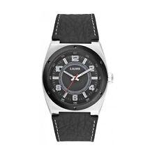 Armbanduhren aus echtem Leder mit 12-Stunden-Zifferblatt und Matte