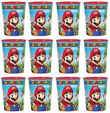 Nintendo Super Mario Lot of 12 16oz Party Plastic Cup ~Party Favor Supplies