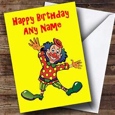 FUNNY CLOWN personalizzato compleanno auguri carta