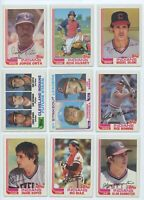 1982 TOPPS & TRADED CLEVELAND INDIANS Team Set (34 Cards) BLYLEVEN, SUTCLIFFE
