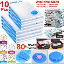 10x Strong Vacuum Storage Bags VAC Space Saving Compressed Bag Vaccum Pack Saver