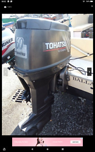 TOHATSU 60HP OUTBOARD LONGSHAFT GEARBOX 2STROKE with propeller