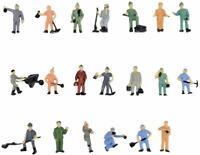 20pcs Model Train Worker People Figures 1:87 HO Scale Railway Painted Worker