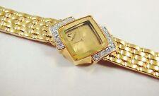 Lassale by Seiko Gold Tone Metal 4N00-4800 w/ Gemstones Sample Watch NON-WORKING
