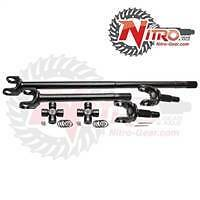 Nitro 4340 Chromoly Front Axle Kit Dana 30 72-81 CJ Jeep 27 Spl w/ 760X joints