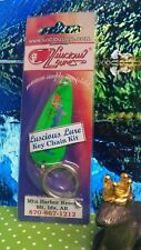 Luscious Lures Lure Spoon With Girls Key Chain Kit or just add hooks.Green #f4