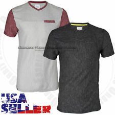 Mens T Shirts V Neck Casual Short Sleeve Fashion Top Pocket Solid Slim Fit Tee