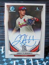 2014 Bowman Chrome Jack Flaherty Auto Cardinals Prospect Autograph Card ZA