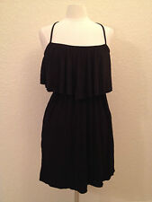 NEW Kenneth Cole Women's Reaction Tiered Cross Back Dress RS3S533 Black Medium