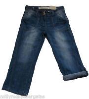 New Womens Blue NEXT Denim Crop Jeans Size 8 Regular RRP £32 LABEL FAULT