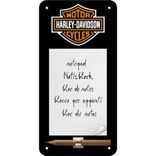 NOSTALGIE Magnetschild/Notizblock HARLEY DAVIDSON Motorrad Biker NEU OVP
