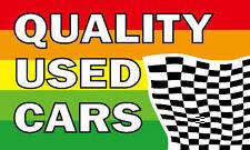 QUALITY USED CARS FLAG 5' x 3' Car Van Sales Dealer Advertising
