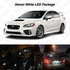 8 x White LED Interior Bulbs + License Plate Lights For 2015 2016 2017 WRX STi