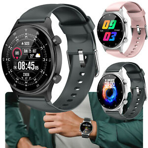 Round Screen Smart Watch Heart Rate Blood Pressure Fitness Tracker for Android