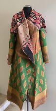 Women's Reversible Kantha Cotton Full Length Jacket, One Size (#156)