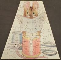 Beatrix Potter The Tailor of Gloucester Vintage 1930s Wooden Jigsaw Puzzle
