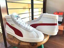 Mens Puma Retro Vintage Basket Sneakers Shoes 68 Og Mid White Red sz 10