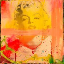 MR CLEVER ART MARILYN RAINBOW LINES PAINTING contemporary pop art modern urban