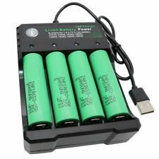 Batería 4 un. 18650 2500mAh Li-ion Baterías Recargables + Cargador USB Inteligente Reino Unido