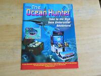 original OCEAN HUNTER  SEGA  ARCADE VIDEO  GAME  FLYER