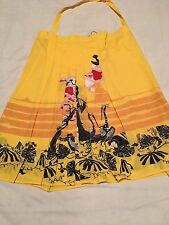 "Diesel Style Lab Women's Skirt Yellow Pleated New W/ Tag Size 28 32"" Waist Italy"