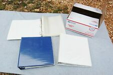 """3 Ring Binder Notebook Lot 3 & 352 Clear Pages 8""""x 10"""" Pre-owned Flat Rate Box"""