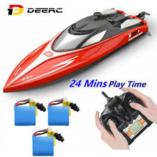 2.4 Ghz Rc Boats 20+ mph High Speed Racing Boats for swimming Pool 3 Batteries