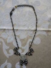 Luxury Signed Babylone Paris Fashion Bow Heart Faux Pearls Necklace