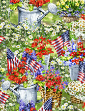 Patriotic Fabric, By The Yard, Patriotic Garden, C7254, BTY, TheFabricEdge