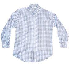 Peter Millar Mens Long Sleeve Button Up Blue Plaid 100% Cotton Size M NWOT