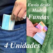 Funda para mascarilla protector de plástico para bolso bolsillo coche 4 UNIDADES