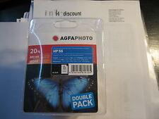 AGFA PHOTO TWINPACK PACK DE DEUX non-original 2x HP NR. 56 6656 ae Noir 2x24ml