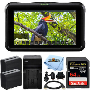 "Atomos Shinobi 5.2"" 4K HDMI Monitor ATOMSHBH01 + 2 Batteries + 64GB Bundle"