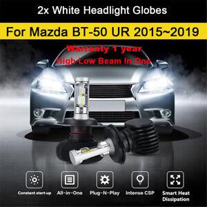 For 2017 2016 Mazda BT50 BT-50 UR Headlight Globes High Low beam LED Bulbs kit B