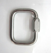 Maillon Rapide 8mm rectangular Reserve Parachute Link, Carabiner, each