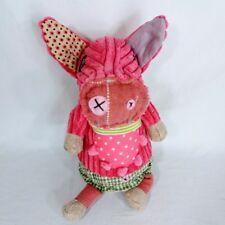 Deglingos Jambonos Pig Retired Stuffed Animal Plush Toy Unique French Pink